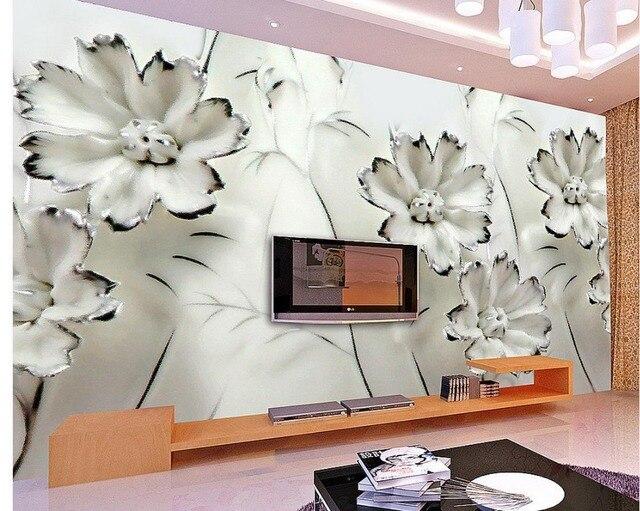 3d mural tapete 3d stereoskopischen tv hintergrund von schönen ...