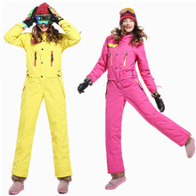 SAENSHING Ski suit Women Winter suit Waterproof Ski Jacket warm Women's ski suit One Piece Jumpsuit Snow Skiing snowboard jacket