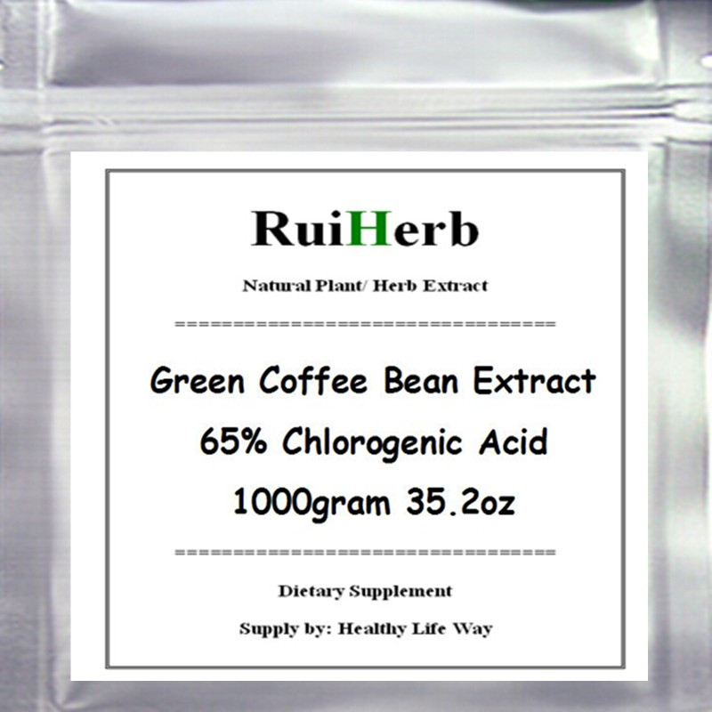 1000gram Green Coffee Bean Extract 65% Chlorogenic Acid Powder For Weight Loss 35.2oz 50g rhodiola extract rhodiola rosea extract powder