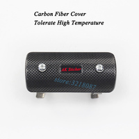 Motorcycle Exhaust Middle Link Pipe Escape Moto Carbon Fiber Heat Shield Cover Guar GY6 Scooter Muffer