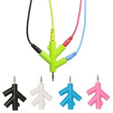 Разветвитель кабеля для наушников 3,5 мм, 4 порта, 3,5 мм