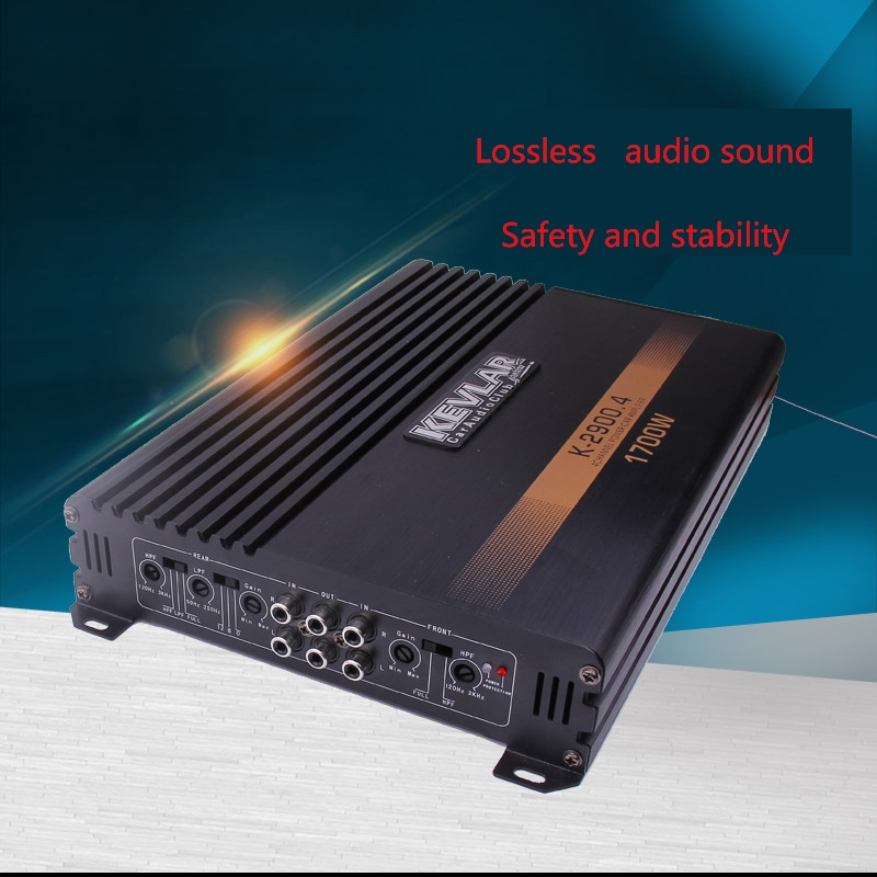 I Key Buy High Power 1700W Professional Audio Car Amplifier 4-Way 4 Channel 12V Auto Stereo Amplifiers Speaker Booster black 12v car amplifier high power 1900w audio 4 channel 4 way amplifiers booster auto free shipping dropping