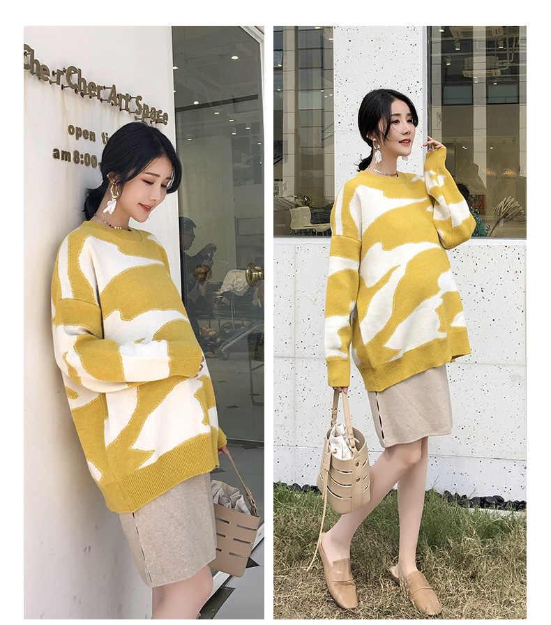 マタニティ服 2018 新しいセーターセーター袖甘い愛底入れ着用ファッション野生妊婦服産科セーター