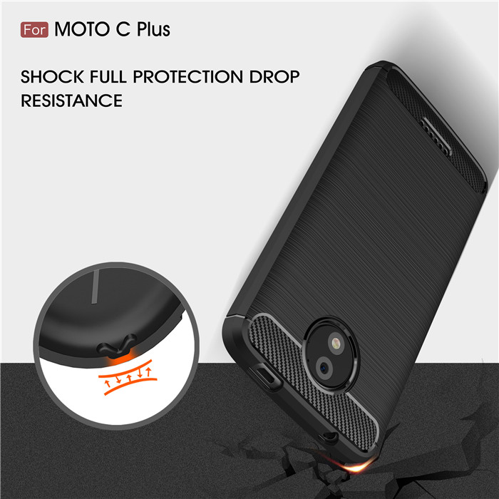 For Motorola Moto C C plus case Silicone Soft TPU Business Carbon Phone Cases for Moto Z Z play Z force Z2 force coque for M X4