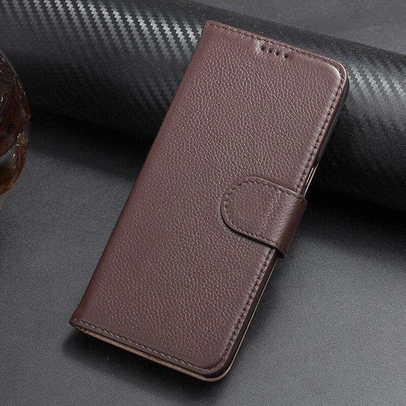 imágenes para Solque Genuino Caso Del Tirón Del Imán de Cuero Para Samsung Galaxy S8 más Cubierta de la Tarjeta de Soporte de la Carpeta de Lujo Galaxy S8 S8Plus Litchi líneas