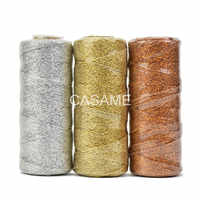 baker twine Striped 110yard12ply Striped DIY Metallic golden Gold Silver Twist Rope Baker Twines Craft Gift Packing spools