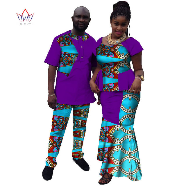1739121337f 2017 Summer New Hot Sale Matching Couple Clothes Casual Contrast Colors Couple  Outfits African Couple Clothes