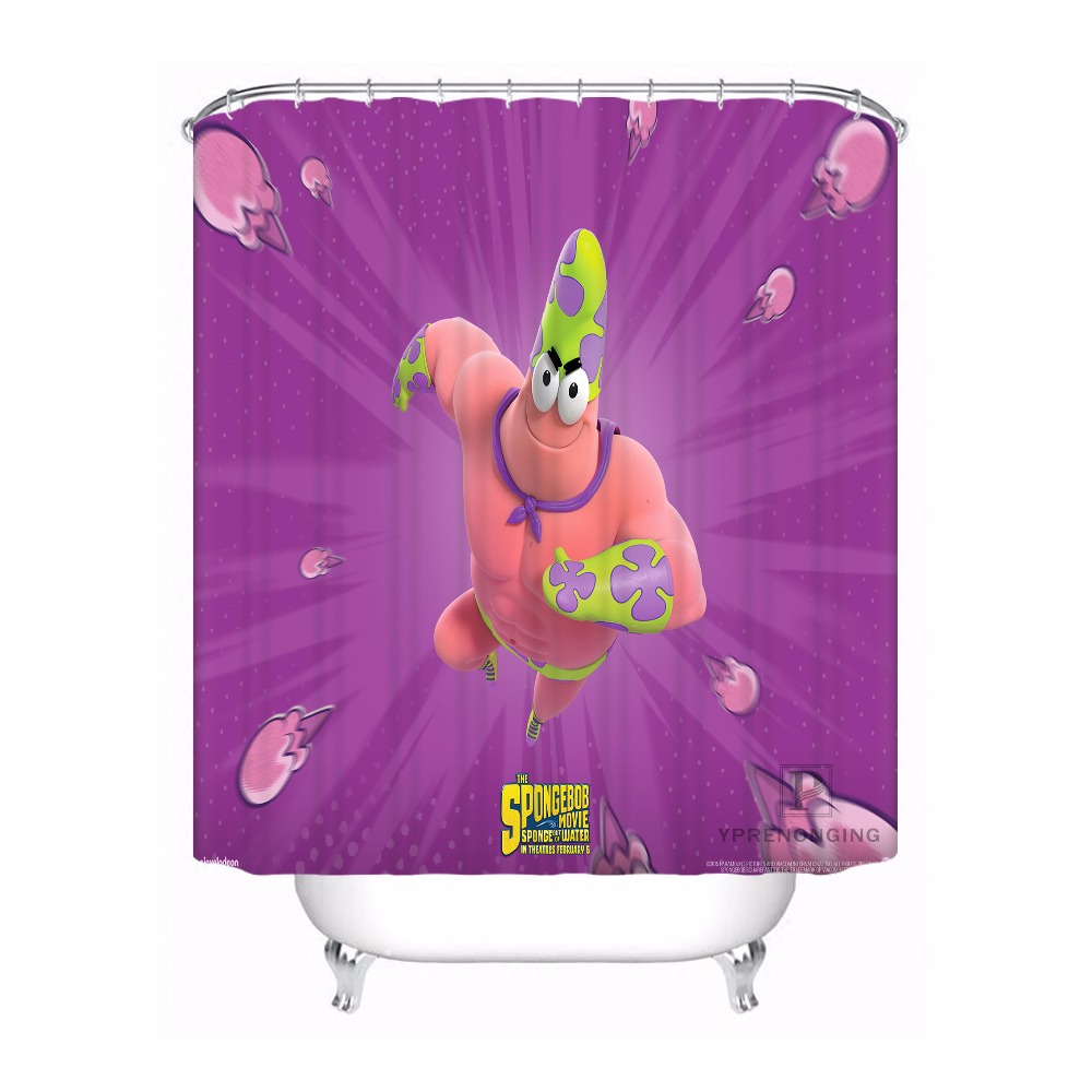 Custom Spongebob Bathroom Acceptable Shower Curtain Polyester Fabric 180320 01 192 In Curtains From Home Garden On Aliexpress