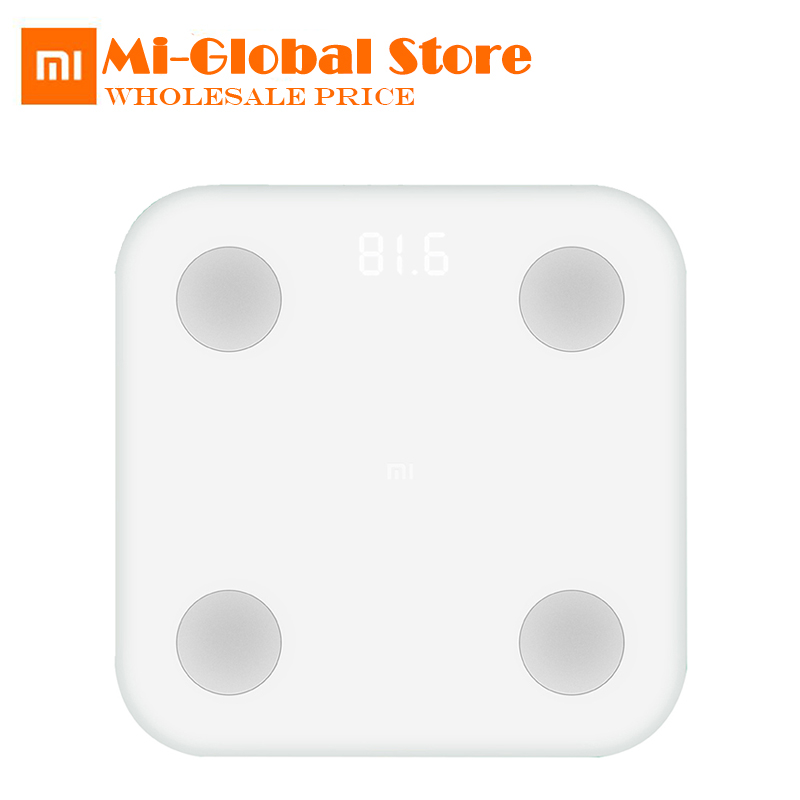 original Xiaomi Mi Smart Body Fat Scale Mifit APP & Body Composition Monitor With Hidden LED Display Manage Your Healthy напольные весы xiaomi mi smart scale