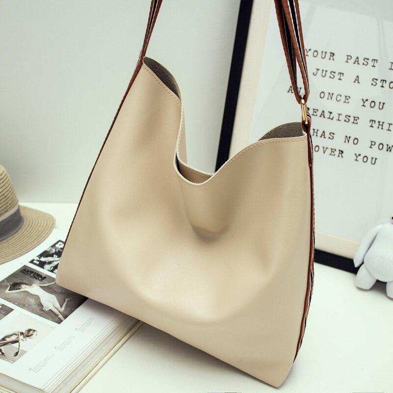 HANSOMFY 2016 Summer New Fashion Trend Minimalist Shoulder Bag Big Picture Tote Bag Handbag