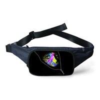 Unisex Black Monster Girls Printing Waist Pack For Women Waterproof Outdoor Running Belt Bag Canvas Travel