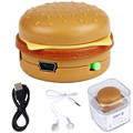 Hot Sale Hamburger MP3 Player reproductor de musica MP3 +Mini USB Charging Cable +Earphone  Support TF Card #UO