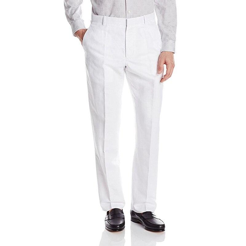 New Arrival Custom Made Men's Suit Pants Dress Pants Male Casual Long Trousers Slim Fit Flat Confirm Waistline Pants