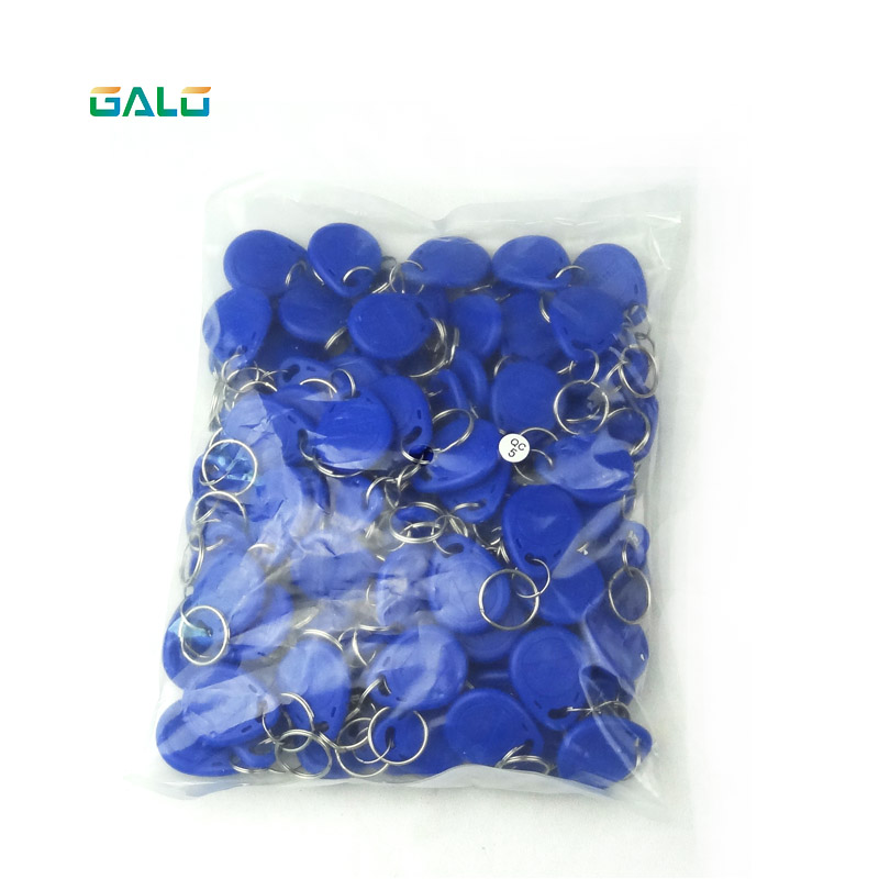 IP65 100pcs Blue125Khz RFID Card Keyfobs For Access Control And Other RFID Reader Use