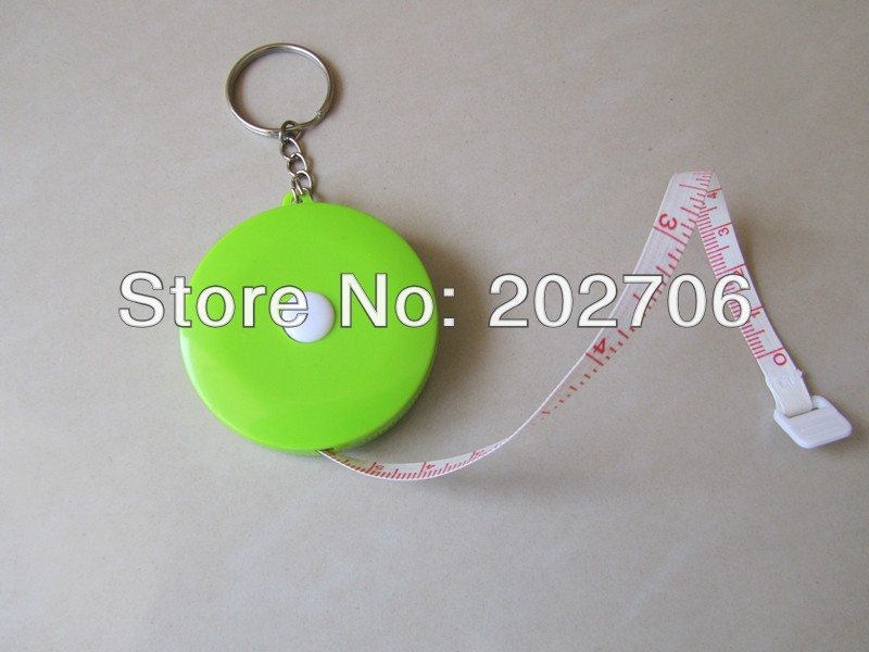 150 см/60 дюймов Круглая форма измерительная лента кольцо для ключей лента Подарочная рекламная лента для талии лента для тела смешанный цвет 50 шт./партия