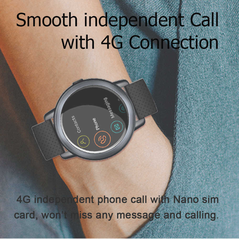 70d313679 ... LEMFO LEM8 Smart Watch 4G Android 7.1.1 2GB+16GB 2MP Camera Support  WiFi ...