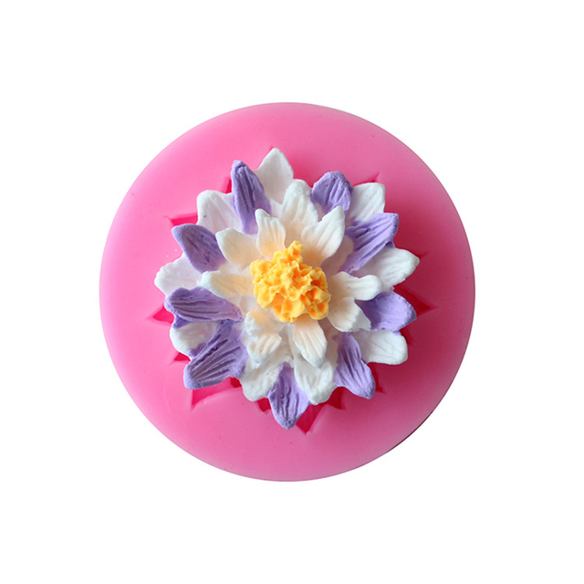 Diy Lotus Flower Soap Silicon Flowers Fondant Mold Silicone Cake