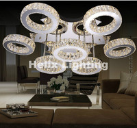 Newly Modern LED Stainless Steel Crystal Design Modern Clear Crystal LED Ceiling Light LED Ceiling Lamps