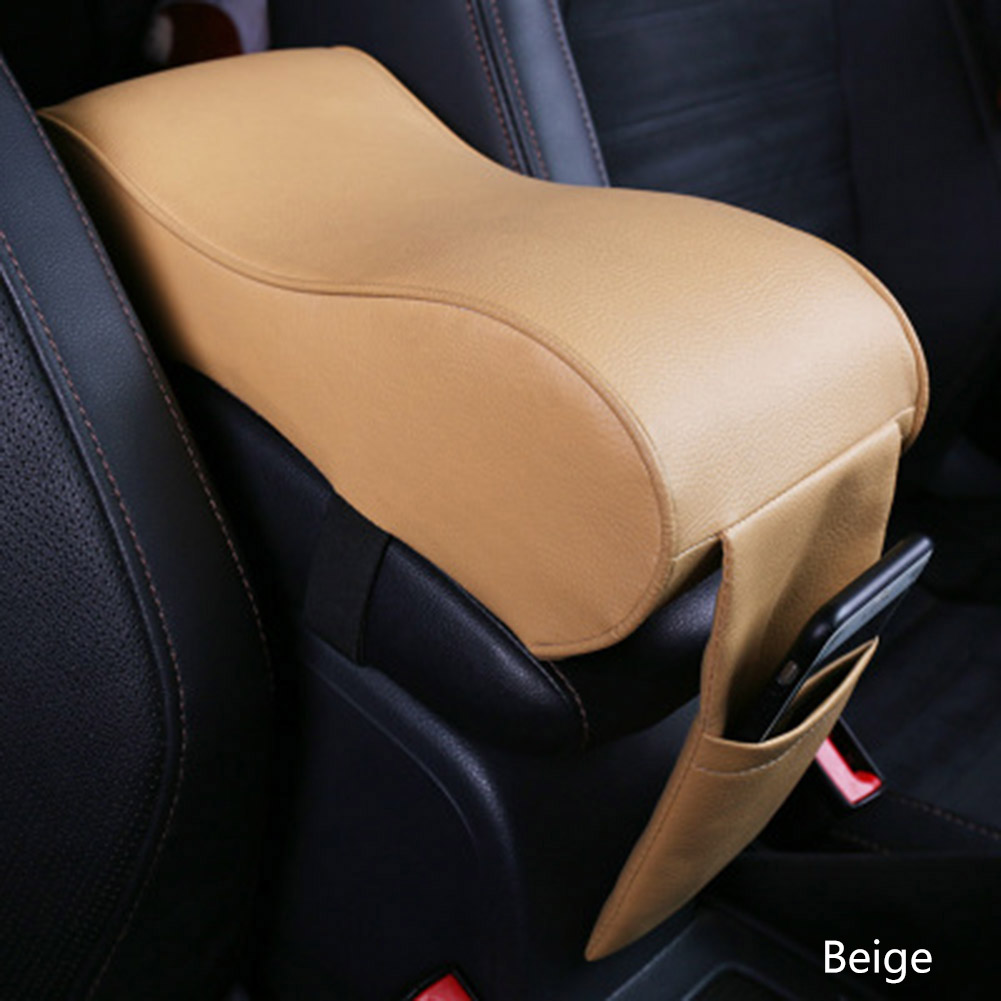 Car Universal Armrest Box Mats Car Interior Armrest Pad Set PU Leather Styling Armrest Box Pad