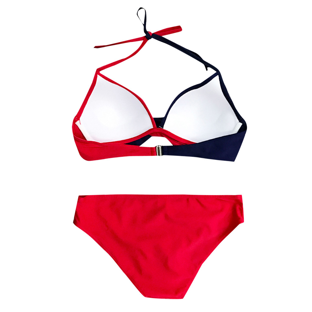 HTB1CR.FV6TpK1RjSZKPq6y3UpXa1 7 Colors Womens Padded Push-up Bra Tankini Bikini Set 2019 Swimsuit Low Waist Bathing Suit Swimwear Two Pieces Halter Beachwear