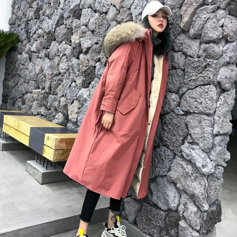Coat Collar Hooded Fur