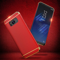 For Samsung Galaxy Note 8 Case Fashion Luxury 3in1 Hard PC Back Cover for Samsung Note 8 Case Note 8 Cover Shell Red Blue Gold