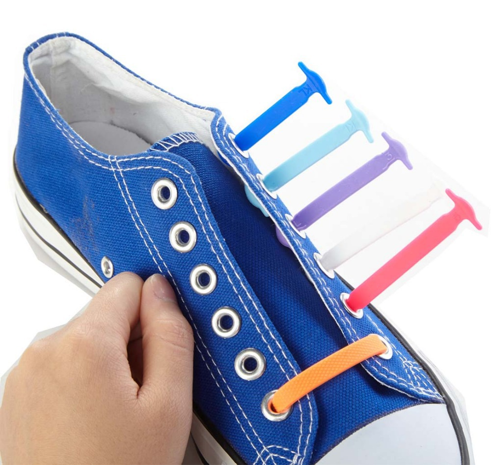 save off eb77a b235d Coolnice No Tie Silicone Rubber Elastic Shoelace Sneaker Shoe Laces Running  Shoelace Easy Shoelaces For Kids X 5 Sets Wholesale-in Shoelaces from Shoes  on ...