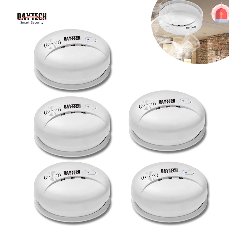 DAYTECH Smoke Sensor Fire Detector Alarm Home Security Alarm Smoke Detector 85db For Kitchen/Hotel/Restaurant portable alarm detector wire fire smoke detector for alarm system smoke sensor