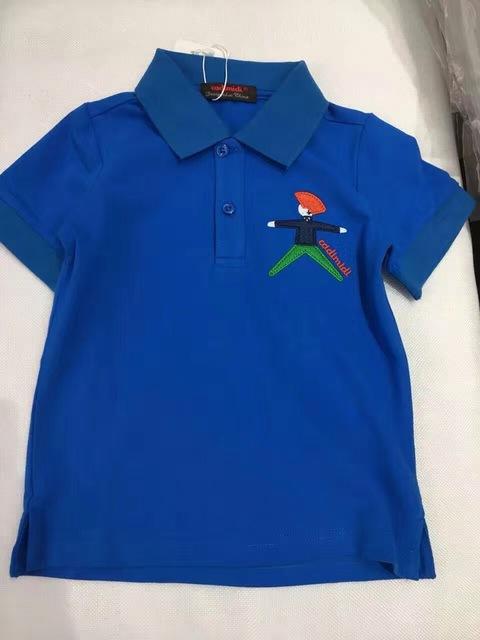 14 estilo Crianças T-Shirt Dos Meninos do Verão Lapela remendo bordado de manga curta t-shirt T dos miúdos Encabeça atacado