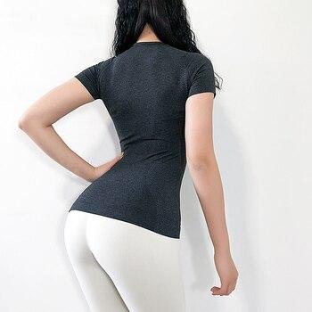 Women's Sports Wear For Women Gym Yoga Top T-shirt Female Workout Tops Sport Shirt Fitness Seamless Jersey Woman Workout Tops 4