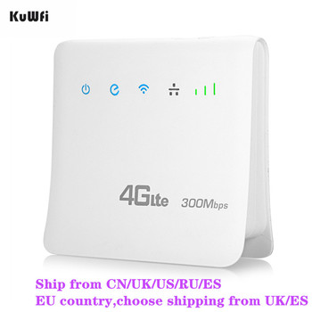 Desbloqueado 300 Mbps Routers Wifi 4G LTE CPE Router móvil con puerto LAN soporte tarjeta SIM y Europa/ asia/Oriente Medio/África