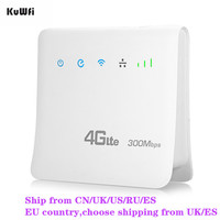 Unlocked 300Mbps Wifi Routers 4G LTE CPE Mobile Router with LAN Port Support SIM card and Europe/Asia/Middle East/Africa