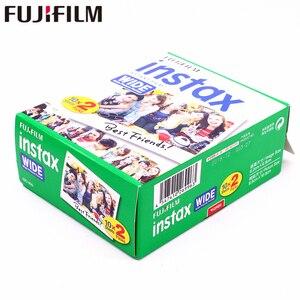 Image 4 - Fujifilm Instax רחב סרט אמיתי לבנים 20 גיליונות נייר צילום מיידי לפוג י המצלמה 300/200/210/100/500AF