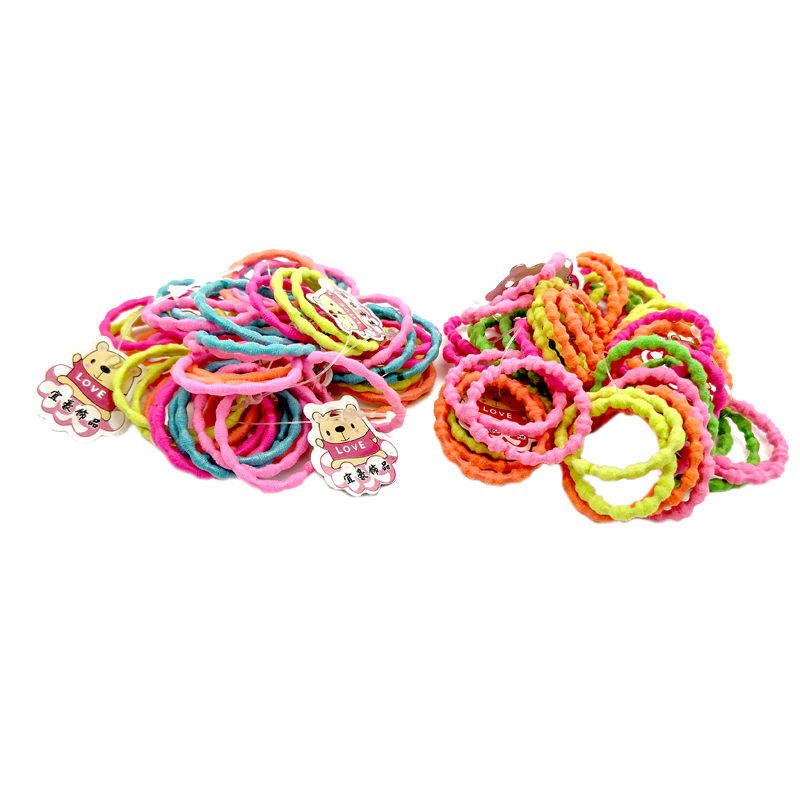 50 шт./лот 3 см карамельный цвет основной резинкой для детей эластичная резинка для волос Детские шнурок для волос для девочек Аксессуары