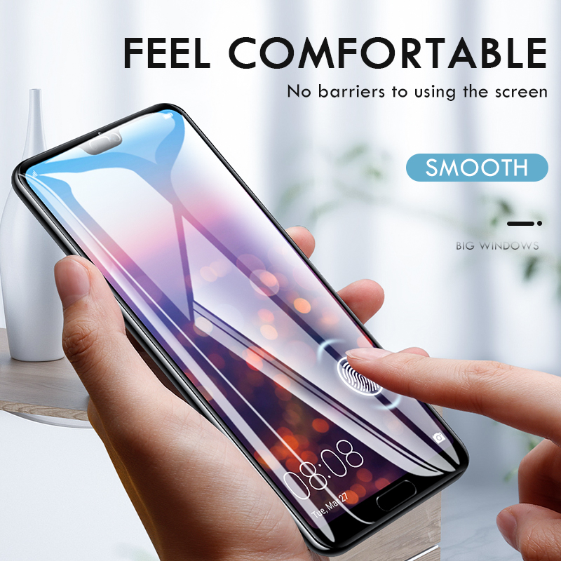 Image 2 - ZNP 15D Screen Protector Tempered Glass For Huawei P20 P10 Lite Plus Protective Glass For Huawei P20 Pro Mate 20 10 lite Film-in Phone Screen Protectors from Cellphones & Telecommunications