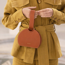Casual Semicircle Handbags For Women Fashion Top-handle Pu Leather Clutch Bag Solid Color Woman Chic Totes Lady Purses