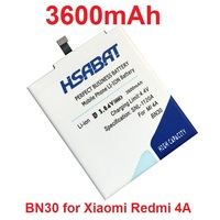 HSABAT 3600mAh BN30 Battery For Xiaomi Redmi 4A Redrice 4A Hongmi 4A