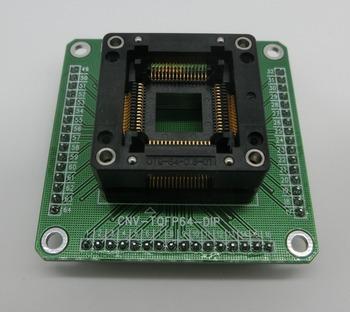 Darmowa wysyłka 1 sztuk Test wypalenia adapter gniazda Enplas OTQ-64-0 8-01 QFP64 TQFP64 LQFP64 z PCB tanie i dobre opinie Nowy Regulator napięcia