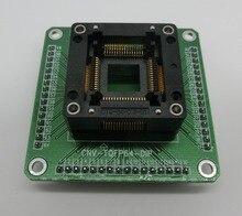 FREE SHIPPING  1 PCS Test Burn In Socket Adapter Enplas OTQ 64 0.8 01 QFP64 TQFP64 LQFP64 with PCB