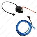 Azul 1 m Flexível Moulding EL Neon Glow Iluminação Faixa de Corda Com Fin Para Decoração Car # FD-3267