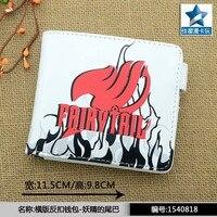 Anime FAIRY TAIL Cos Cartoo Printing Logo White Short Wallet Man Woman Fashion Leisure PU Wallet