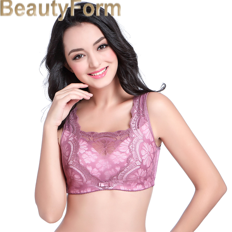 43a4df0ab74f3 Mastectomy Bra Comfort Pocket Bra for Silicone Breast Forms Artificial  Breast Cover Brassiere Underwear