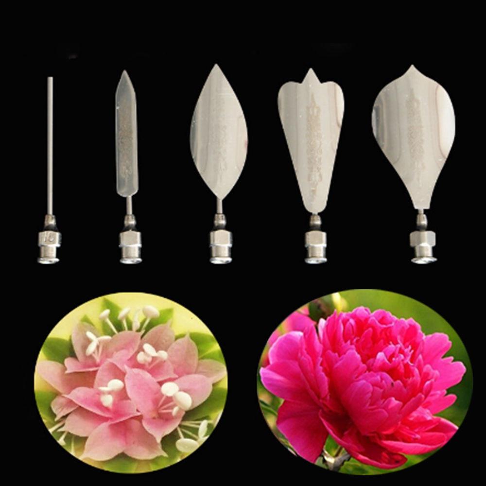 5PCS Flower 3D Jello Jelly Art Needles Tools Jelly Cake Gelatin Pudding Nozzles