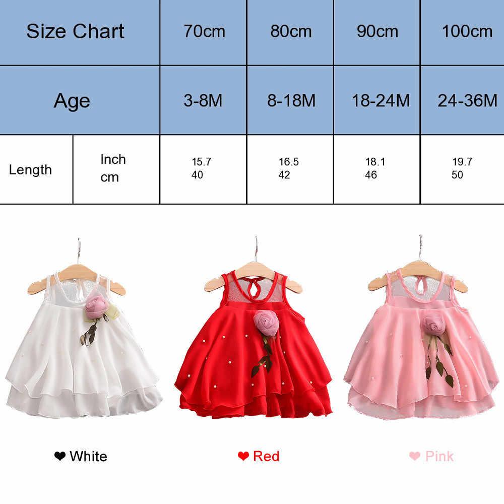 Для детей от 0 до 3 лет Одежда для новорожденных в стиле принцессы Платье для маленьких девочек вечерние платье на день рождения кружевное платье 3D с цветочным принтом платье на крещение для милых девочек без рукавов свадебное платье из фатина