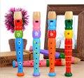 Presente de madeira trompete corneta buzina brinquedo educativo para crianças instrumento musical toys para crianças pequeno piccolo toys # yl