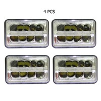 4 X 6 Inch Led Headlight Parking Light Replace HID Xenon H4651 H4652 H4656 H4666 H6545
