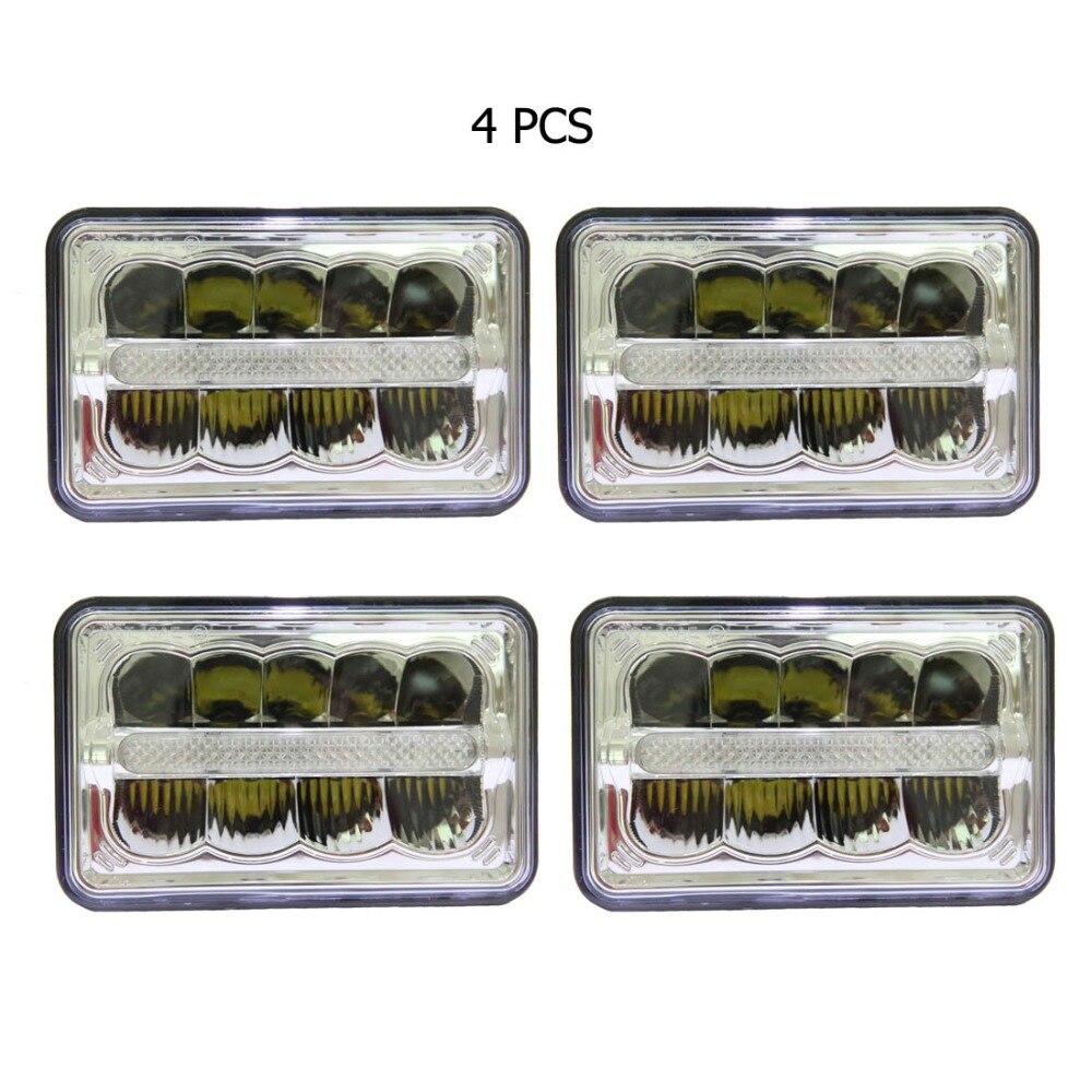4x6 дюймов светодиодные фары парковка свет заменить Ксеноновые H4651 H4652 H4656 H4666 H6545 для Ford, chevy Camaro iroc Z, грузовик (4 шт.)