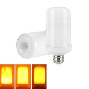 Image 4 - B22 E27 E26 E14 E12 LED Flame Bulb 85 265V LED Flame Effect Fire Light Bulb Flickering Emulation Decor LED Lamp 3W 5W 7W 9W