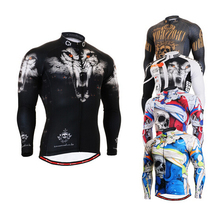 2016 brand Men Cycling Jersey Life on Track Bike Bicycle Long Sleeves Mountaion MTB Jersey Clothing Shirts jerseys for biking