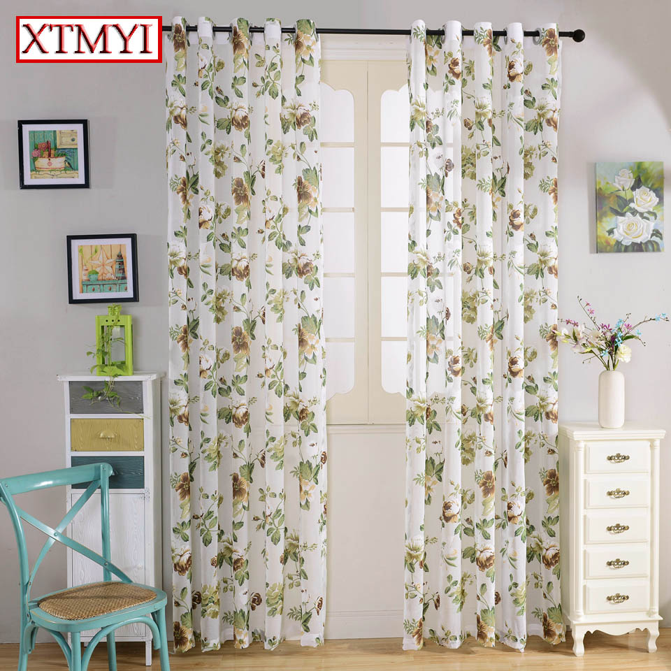 green floral fabric for curtains for living room bedroom kitchen modern blinds curtain fabric drapes custom [ 960 x 960 Pixel ]